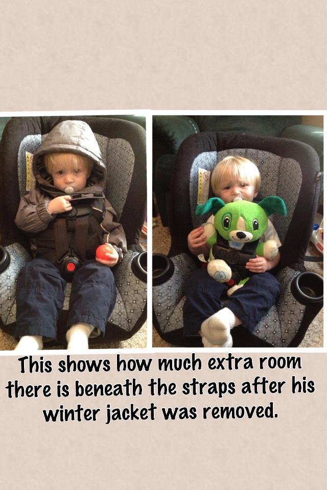 no winter coats in car seats | Ashley Muse